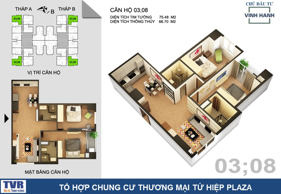 CH3 chung cư tứ hiệp Plaza