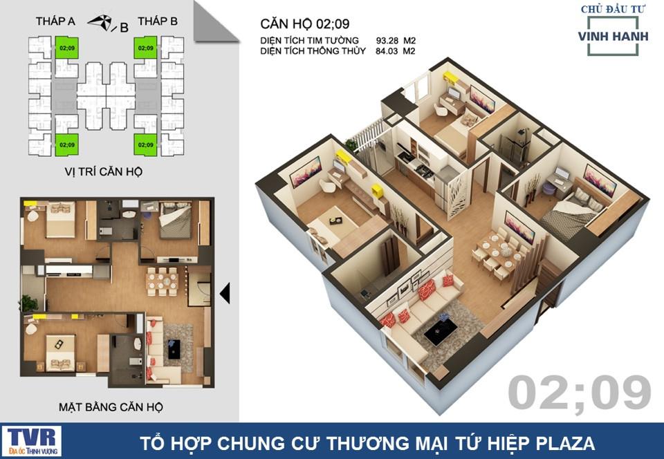 CH4 chung cư tứ hiệp Plaza